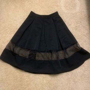 Black express a line skirt see through section